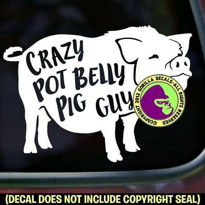 Potbelly pig decal in 8 colors