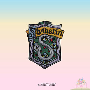 Slytherin Harry Potter Embroidered Iron On Sew On Patch Badge For Shirts
