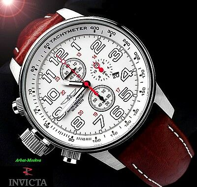Invicta Men's I Force Lefty Quartz Chronograph Leather Strap Luxury Watch