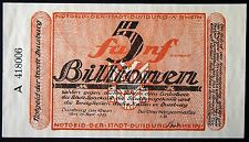 DUISBURG 1923 5 Trillion Mark hyperinflation banknote Notgeld Germany