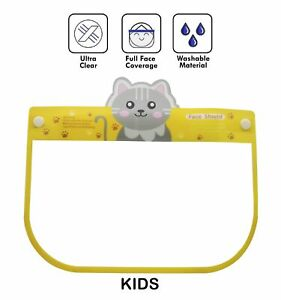 Kid Face Shield With Glasses Visor Protection Mouth Cover Reusable Safety Pony