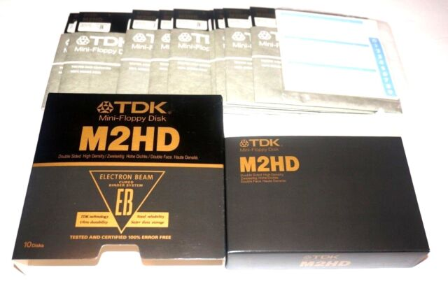 """Sealed TDK M2HD Double Sided High Density 5.25/"""" floppy 10 pack"""