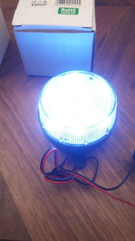 Tilbehør, Monacor LED blinking light 12V/150mA