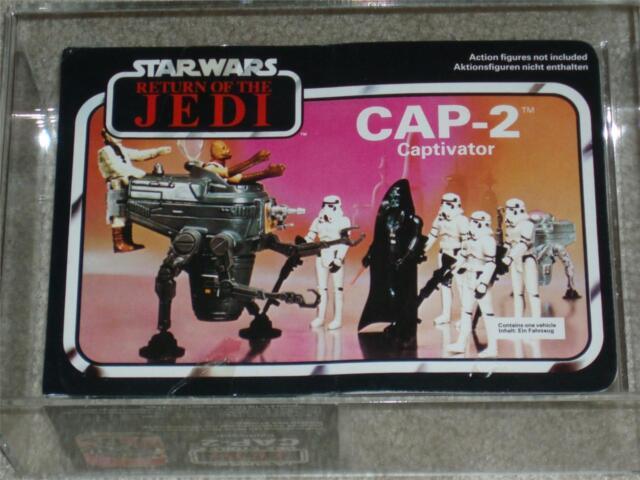 Vintage Star Wars 1983 AFA U80 PALITOY/CLIPPER CAP-2 MISB ROTJ Uncirculated MIB!