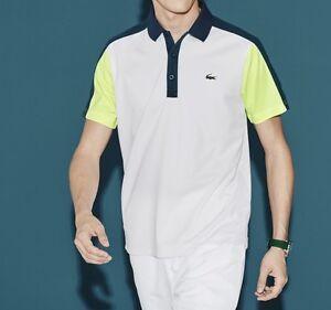 4e9a9d5b Lacoste Sport Ultra Dry Men's Polo Shirt Top T-Shirt Genuine - White ...