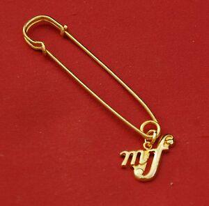 Mezzo-Forte-mf-Music-Gold-Pin-Badge-New