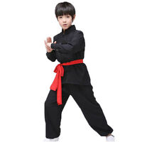 Chinese Wushu Matrial Arts Kids Long Sleeve Uniform Kung Fu Performance Suit