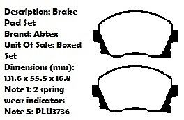 2 X 240mm DISCS VAUXHALL CORSA C FRONT VENTED BRAKE DISCS AND PADS SET NEW