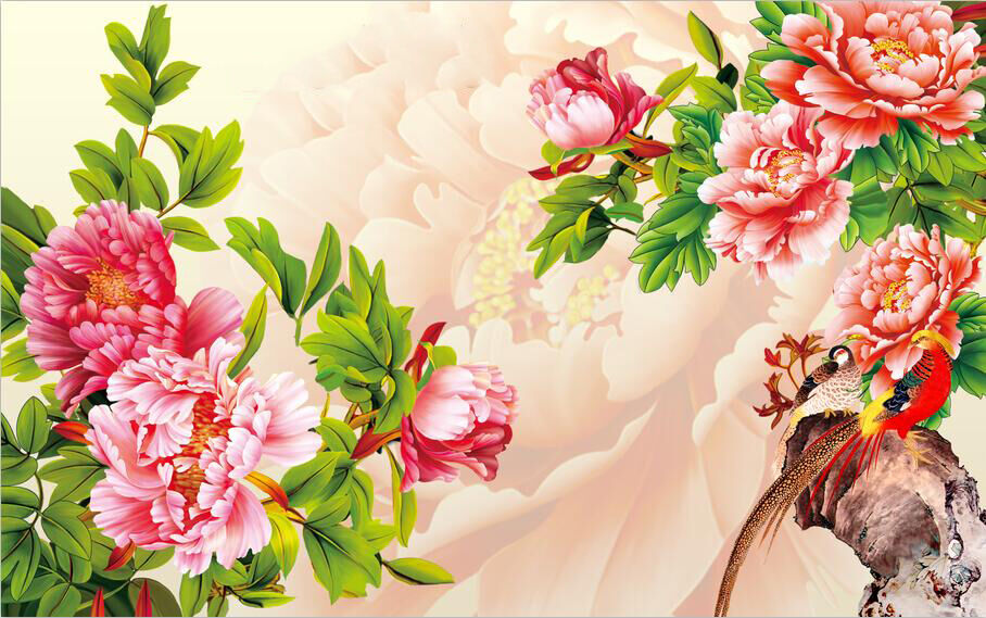 3D 3D 3D Riches And Honor Peony 277 Wall Paper Wall Print Decal Wall Deco Indoor Wall 71c0a6