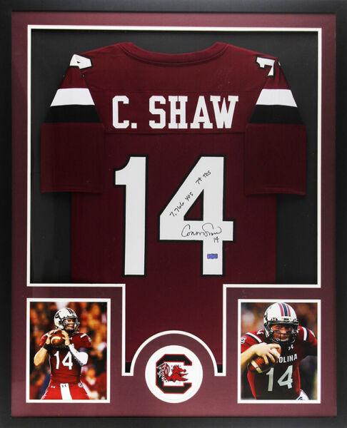 Connor Shaw Signed South Carolina Large Framed Custom Maroon ...