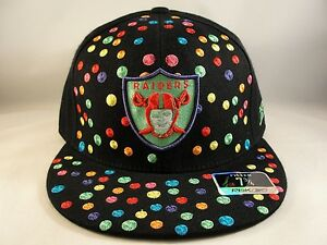 a0719715 NFL Oakland Raiders Reebok Polka Dots Fitted Hat Cap Size 7 3/4 | eBay