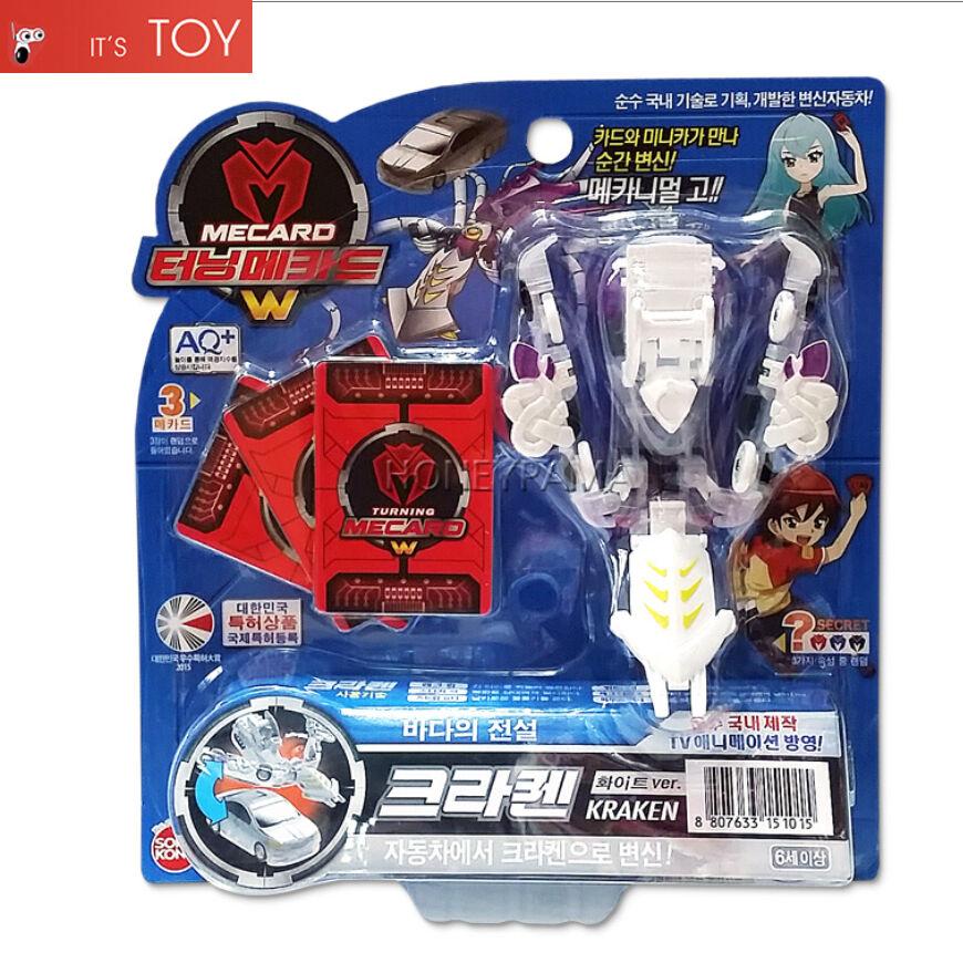 Turning Mecard W KRAKEN White ver Gaint Squid Transformer Robot Car Toy Sonokong