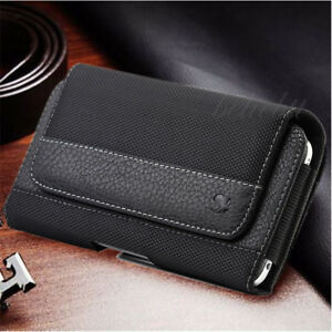 reputable site 1c013 34691 Details about For Apple iPhone 8 8 Plus Horizontal Leather Pouch Case Cover  Belt Clip Holster
