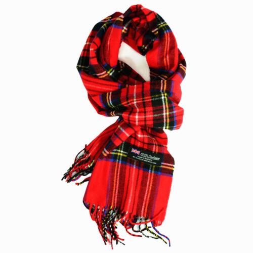 Wholesale Lot Womens Mens Royal Stewart 100/% CASHMERE Scarf Check Plaid Tartan