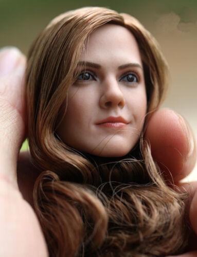 """1:6 Female Head Hermione Emma Watson Sculpt Model Fit 12/"""" Girl Figure Toy Gift"""