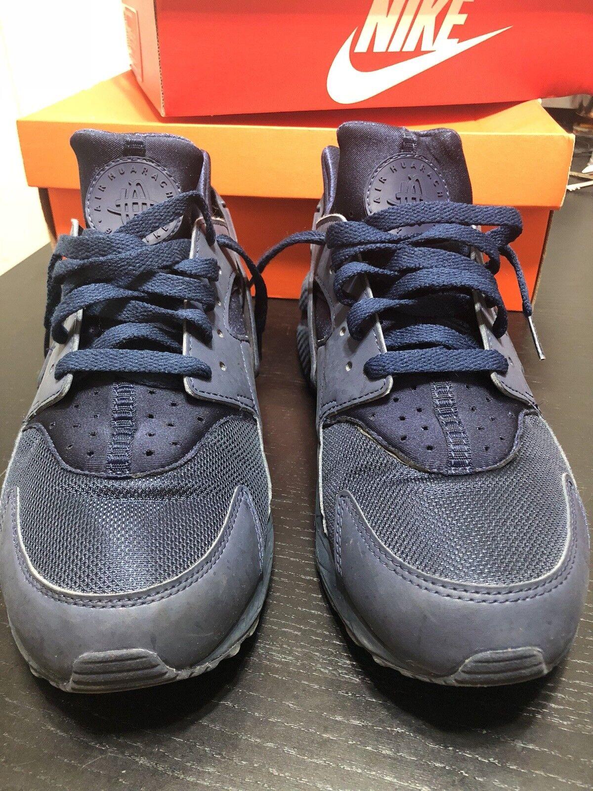 Nike Air Huarache Midnight Navy bluee Trainer Sneaker 318429-440 Size 10.5