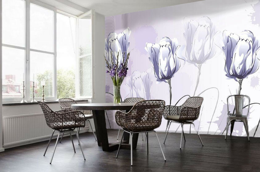 3D Sketch  Flowers 97 Wall Paper Murals Wall Print Wall Wallpaper Mural AU Carly