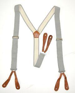 British-Army-Braces-Elasticated-Trouser-Brace-No2-Dress-Uniform-Button-Leather