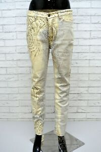 JUST-CAVALLI-Donna-Pantalone-Jeans-Taglia-44-Elastico-Pants-Woman-Italy-Top-Slim