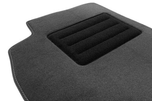 07-15 Graphit Velour Fußmatten Satz für Renault Laguna III Premium Qualität