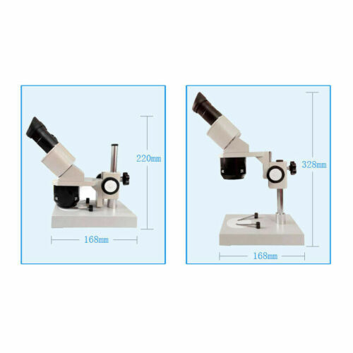 Binocular Stereo Microscope 2X 4X Objective With  RingLamp For PCB Repairing