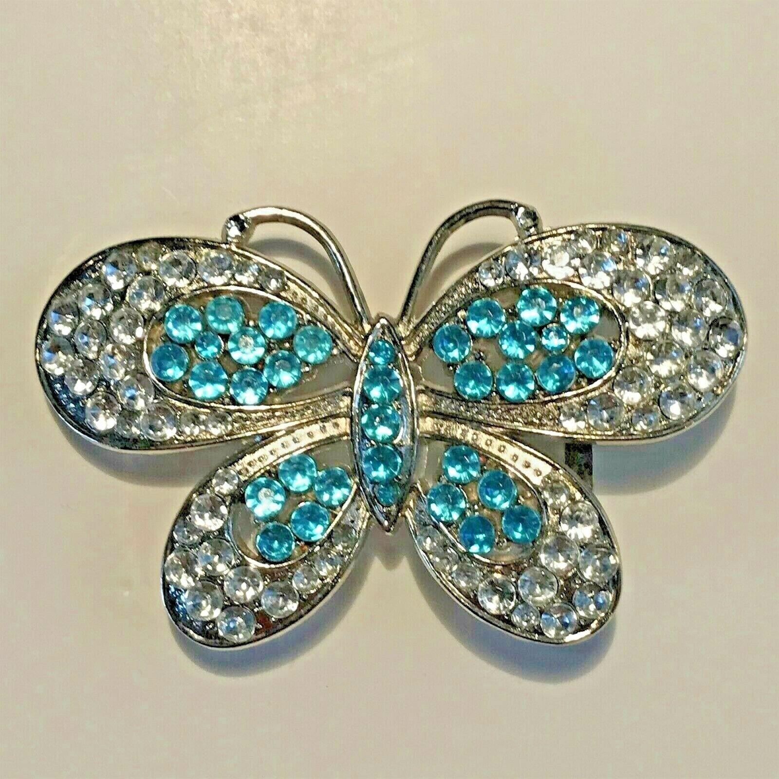 Woman's Rhinestone Butterfly Belt Buckle 2R1-15