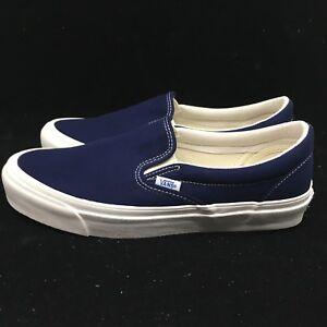 136b6bf670 Vans Vault OG Classic Slip-on Checkerboard Blue Peacoat VN000UDFF9L ...