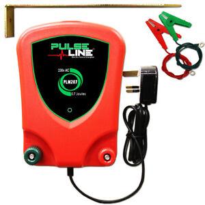 Mains-Electric-Fence-Energiser-Fencer-Unit-230V-PLM207-0-7J-Cables-Earth-Stake