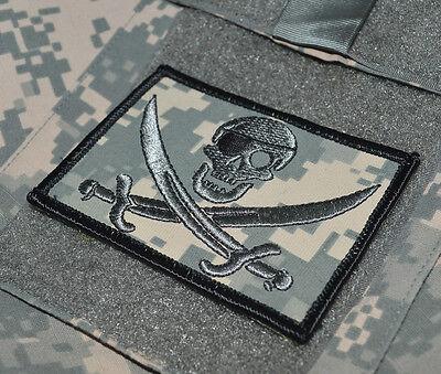 USMC FORCE RECON OPERATOR burdock-hook PATCH PIRATE CALICO JACK SILVER SKULL