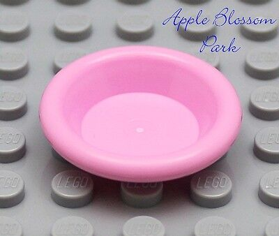 NEW Lego Friends//Belville BLUE DISH 3x3 Utensil Minifig Kitchen Food Bowl Plate