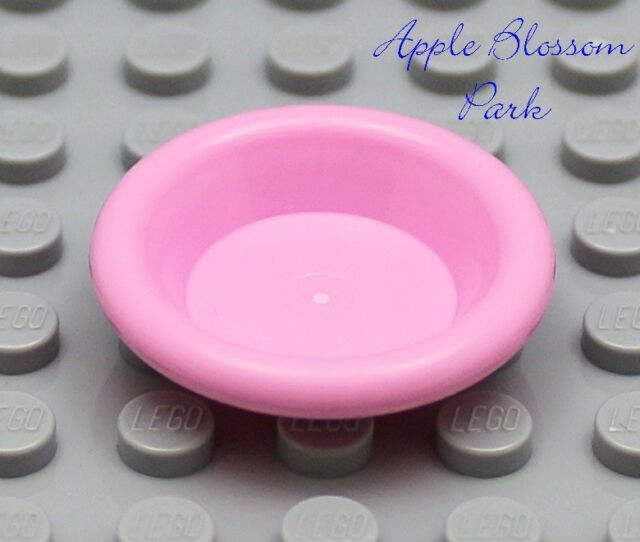 NEW Lego Friends//Belville PINK DISH City Minifig Kitchen Food Utensil Bowl Plate
