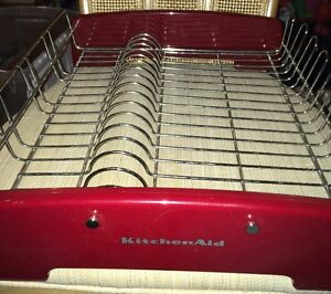 Kitchenaid dish drying rack red free shipping kitchen aid ebay - Kitchenaid dish rack red ...