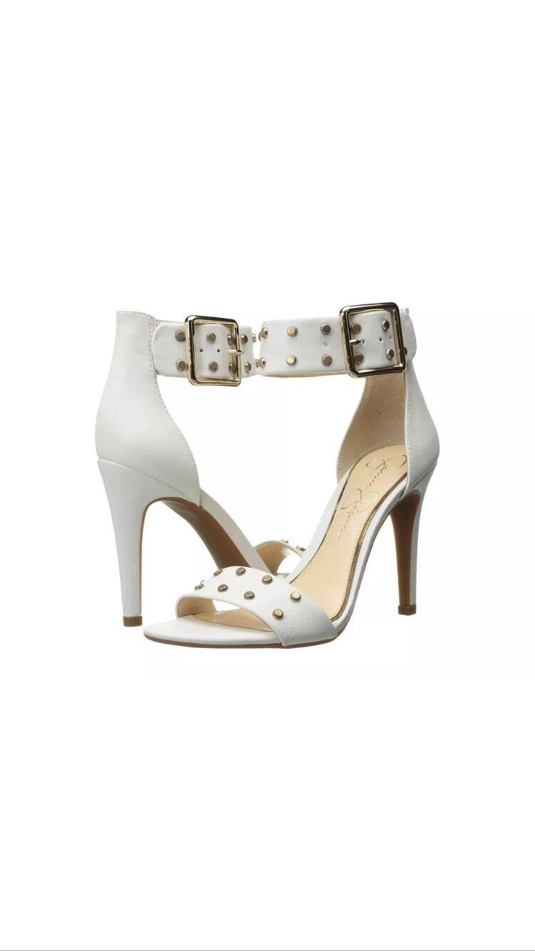 seleziona tra le nuove marche come Jessica Simpson 7 M Elonna 2 Ankle Strap Sandals Sandals Sandals Studded Powder Yakima bianca New  più economico