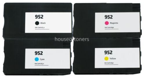 4 pack 952 Ink for HP Officejet Pro 7740 8210 8216 8218 8710 8714 8715 8716