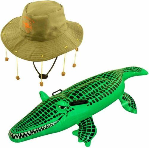Australian jackaroos Liège Chapeau Gonflable Crocodile Set Aussie Swagman Accessoire