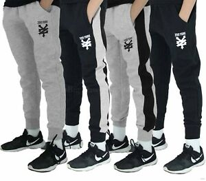 Zoo-York-Boys-Girls-Kids-Slim-Fit-Fleece-Jog-Sweat-Pants-Gym-Wear-Time-Money-Is