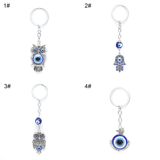 Womens Turkish Blue Evil Eye Pendant Key Chain Bag Charm Lucky Keyrings  Surprise aa78822fe6