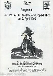 Adac Westfalen-lippe-fahrt 7.4.90 1990 Deutsche Enduro Meister Billigverkauf 50% Int Ausdrucksvoll Programm 49