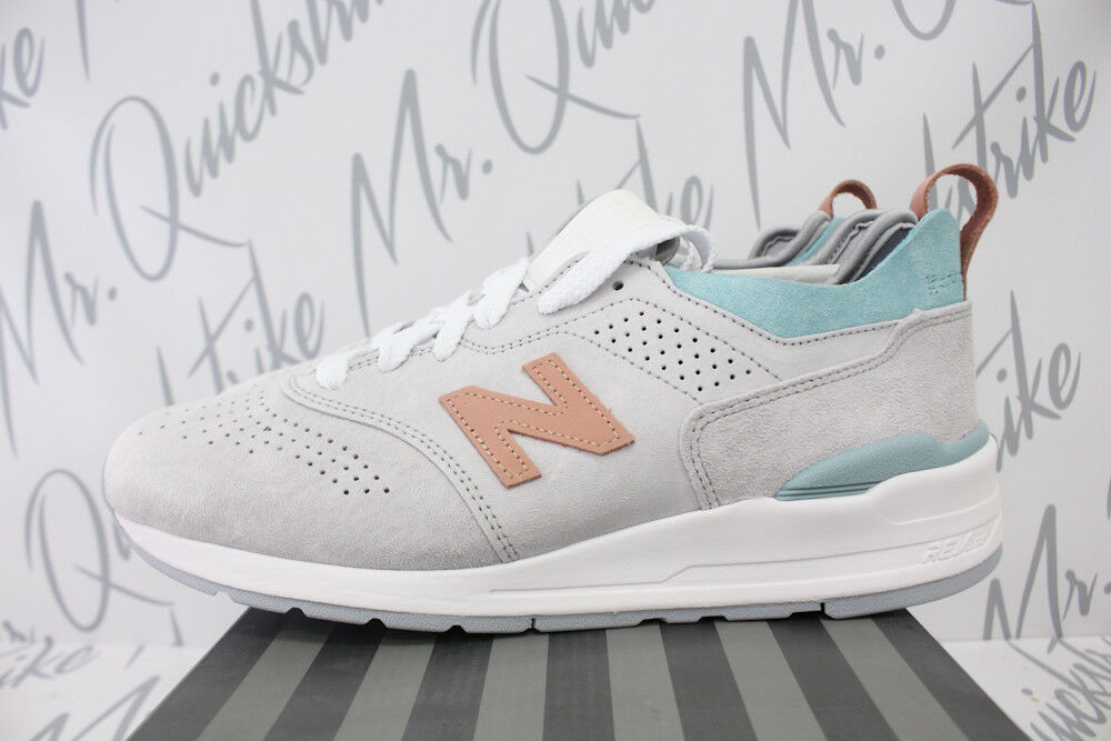 NEW BALANCE 997 MADE IN USA SZ 10 NIMBUS CLOUD GREY PEACH TEAL M997VA2 V2