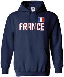 super popular 05677 5ab63 Threadrock Men's France National Team Hoodie Sweatshirt ...