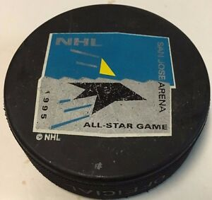 1995 NHL All-Star Game Souvenir Hockey Puck San Jose Sharks