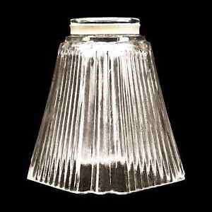 Square Glass Shade Vanity Ceiling Fan Replacement Globe Ribbed