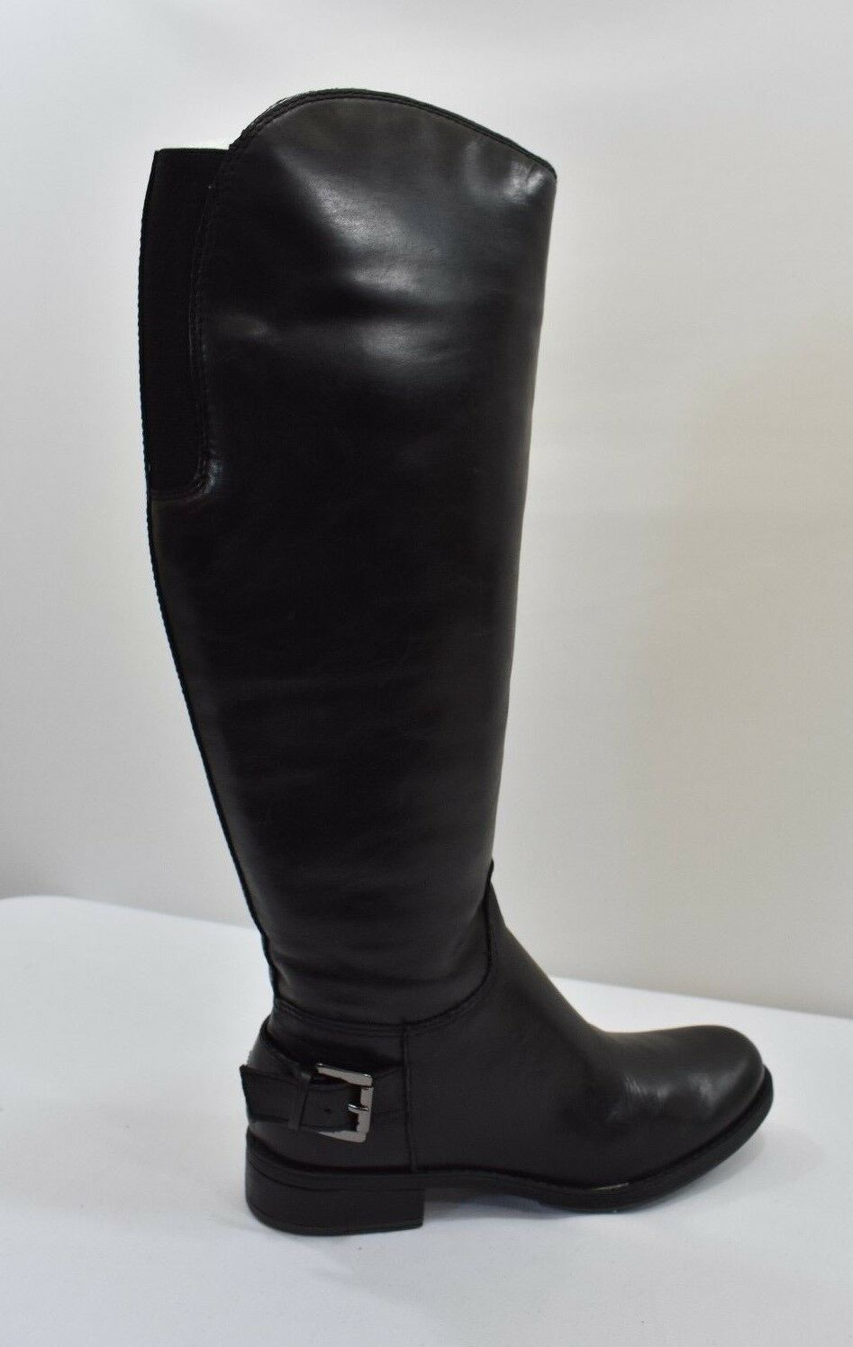 GUESS GW LURIE LEATHER RIDING  BOOTS BLACK 5.5M NEW IN BOX