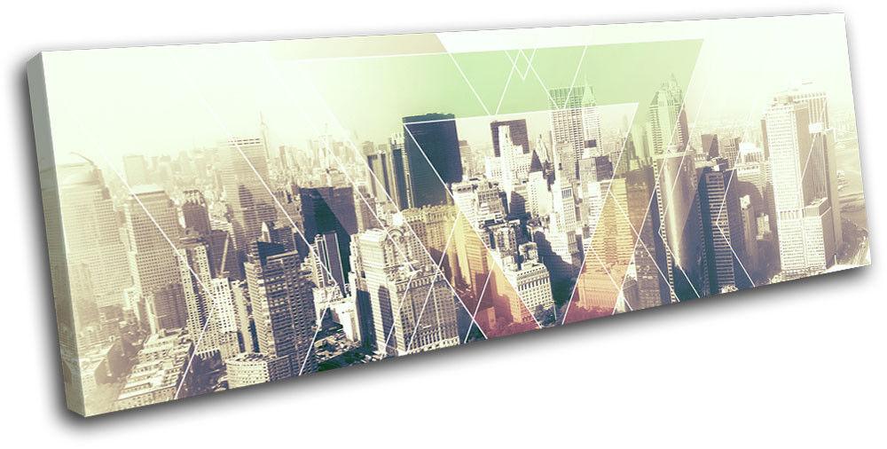 New York NYC USA Abstract Geometric City SINGLE TELA parete parete parete arte foto stampa 5c1250