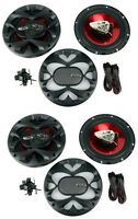 4) Boss Ch6500 6.5 2-way 400w Slim Mount Car Coaxial Speakers Audio Stereo on sale