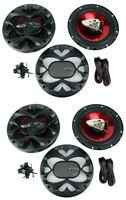 4) Boss Ch6500 6.5 2-way 400w Slim Mount Car Coaxial Speakers Audio Stereo on sale