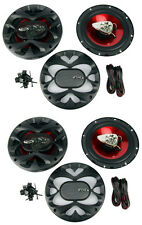 """4) New BOSS CH6500 6.5"""" 2-Way 400W Slim Mount Car Coaxial Speakers Audio Stereo"""