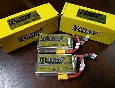 2x Tattu R-Line 4S 1300mAh 14.8v 95C 4S1P Lipo Battery XT60 Plug  Racing Drone