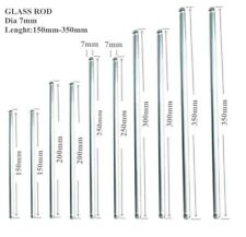 10pcs Glass Stirring Rods Stir Stick Both Ends Round 138121086 Long