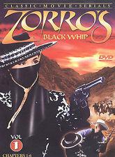 Zorros Black Whip - Volume 1 (DVD, 2003)